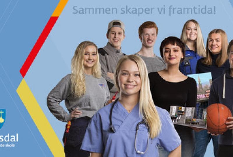 Romsdal vgs banner elever - sammen skaper vi framtida